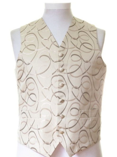 Brown gold wedding waistcoat