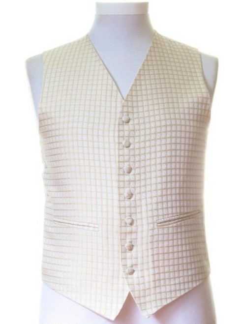 Gold check wedding waistcoat