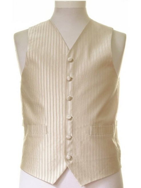 Pale gold stripe wedding waistcoat