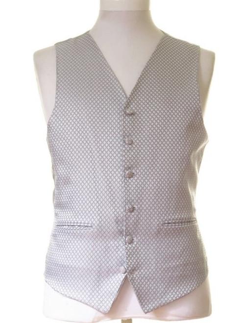 Silver sparkle wedding waistcoat