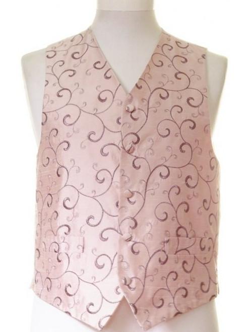 Rose gold swirl wedding waistcoat