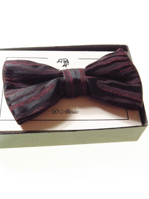 Wine black bow tie