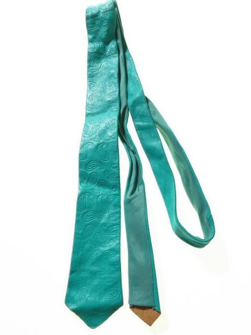 Paisley leather tie