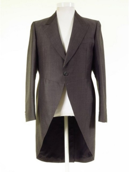 Slim fit grey mohair tailcoat
