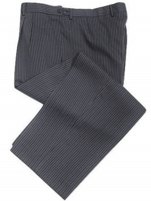 Navy Blue Striped Morning Trousers