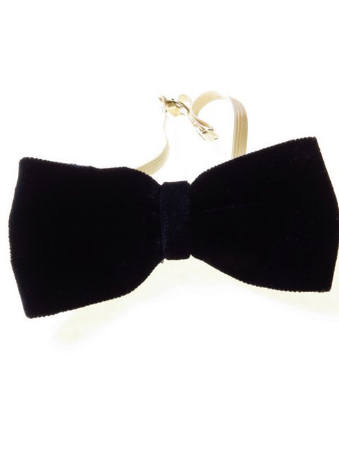 Blue Velvet Bow Tie