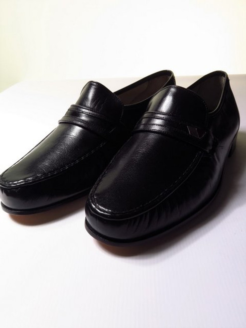 Mens Bally Black Leather Loafers