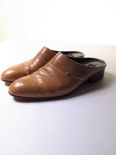 Mens Backless Leather Shoes
