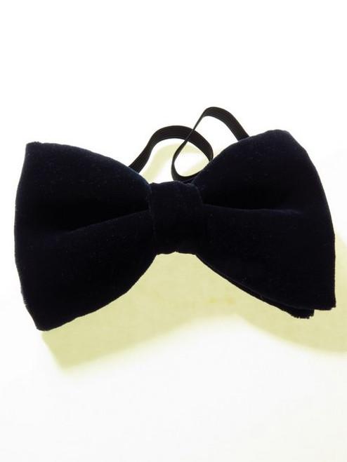 Navy Velvet Bow Tie