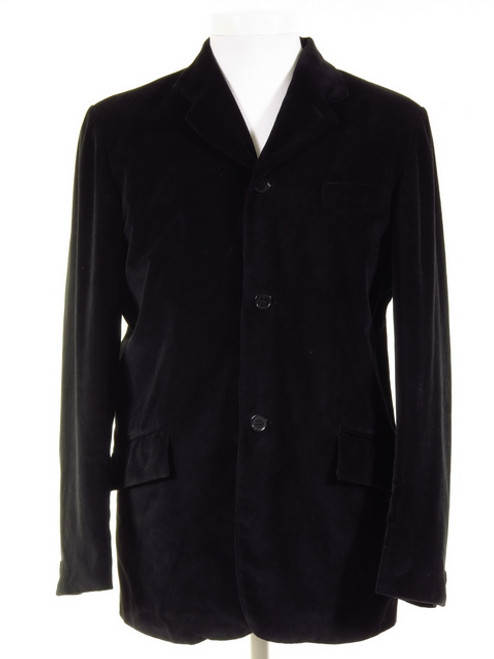 Three Button Black Velvet Jacket