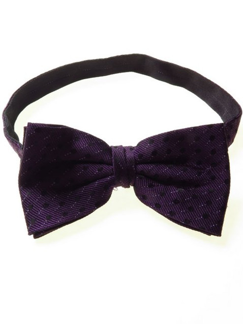 Silk Bow Tie Purple Black