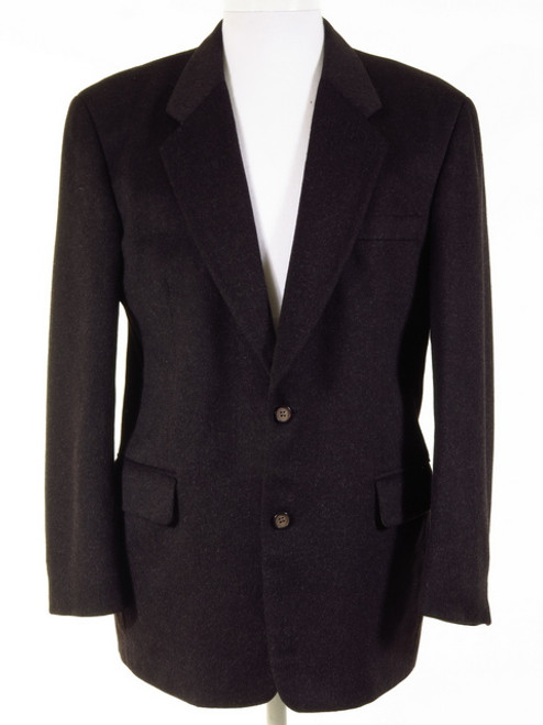 Charcoal Pure Cashmere Jacket