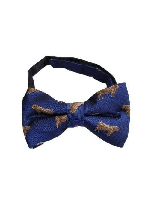 Cow themed mens bow tie