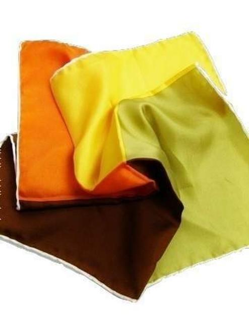 Four colour silk pocket square