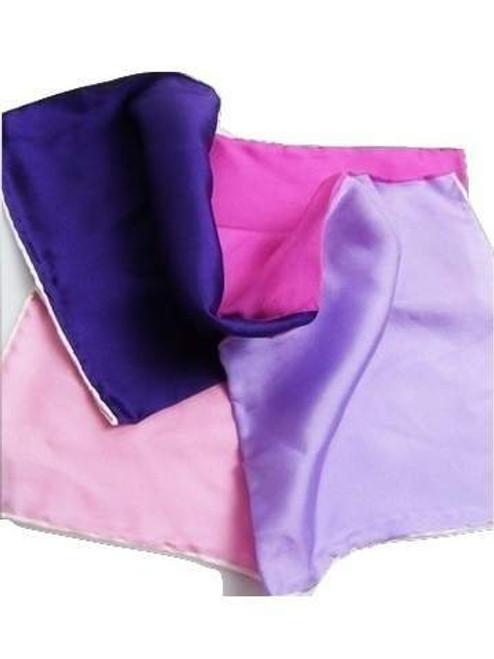 Pink purple silk pocket square