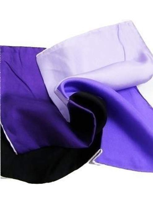 Black purple silk pocket square