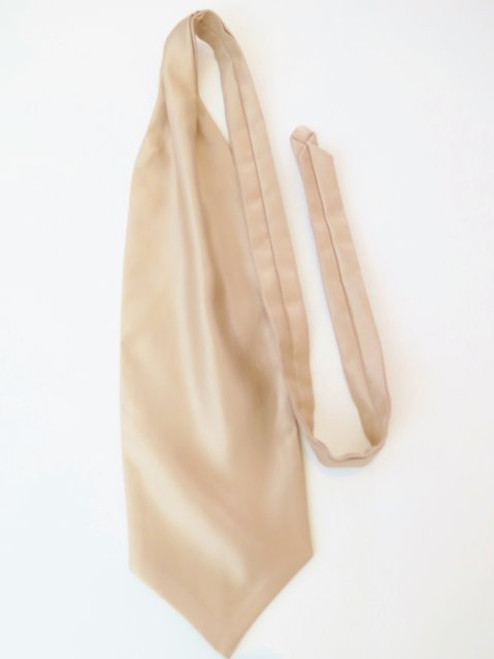 Beige wedding cravat