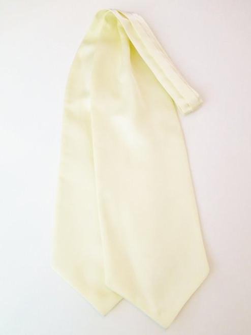 Pastel yellow wedding cravat
