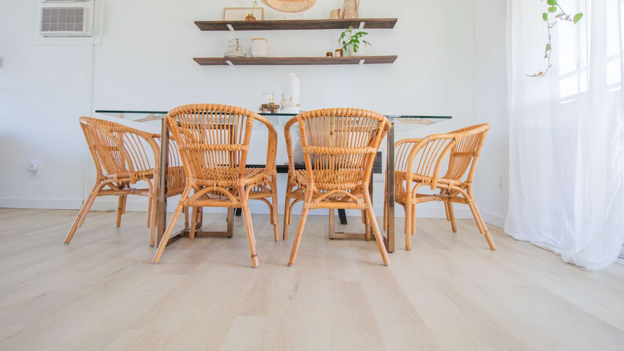 This DIY Lato White Oak Floor Install is an Ultimate Boho Dream | Suzy's Story