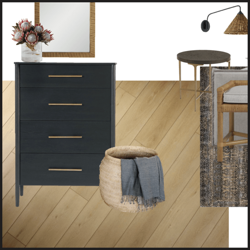 Styling Light Wood Floors for a Coastal Inspired Bedroom | Mood Board