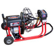 """DM10 SP drain cleaning machine with 16"""" open metal reel which runs 3/8"""" x 75' drain cables for residential drain lines sizes at 1-1/4"""" - 4"""""""