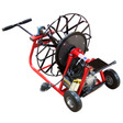 "Jmaxx sewer auger machine with open spoke cable drum that comes with 1/2"" x 75' sewer snake"