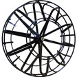 """The 26"""" jumbo open spoke metal reel is regularly used with larger cable sizes and lengths, such as the 11/16"""" x 150' sewer snake from Duracable."""