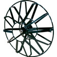 "The 19"" open spoke metal cable drums are recommended to run 1/2"" sewer cable up to 75' in length."