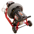 "DM10 SPB - Professional sewer machine with 6"" wheels to move easily while cleaning residential drain lines"