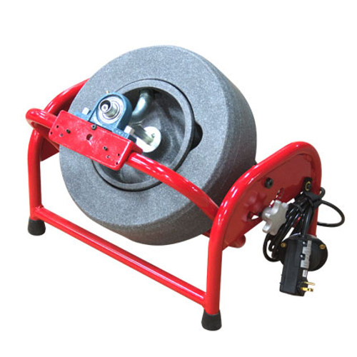 """DM150 Pivot Drain Cleaning Machine shown in locked in third position with 14"""" polyethylene reel"""