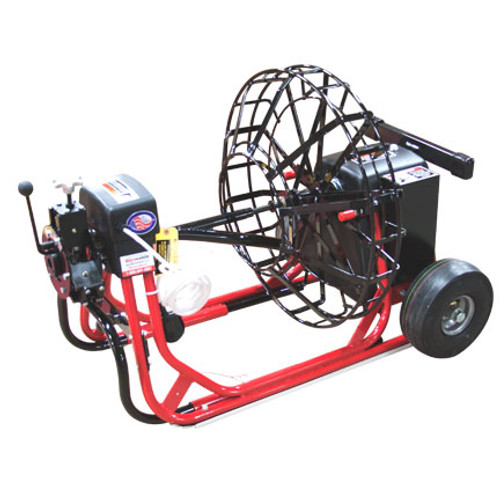 """DM55 SP Commercial Sewer and Drain machine with 26"""" open metal cable drum for 11/16"""" cable"""