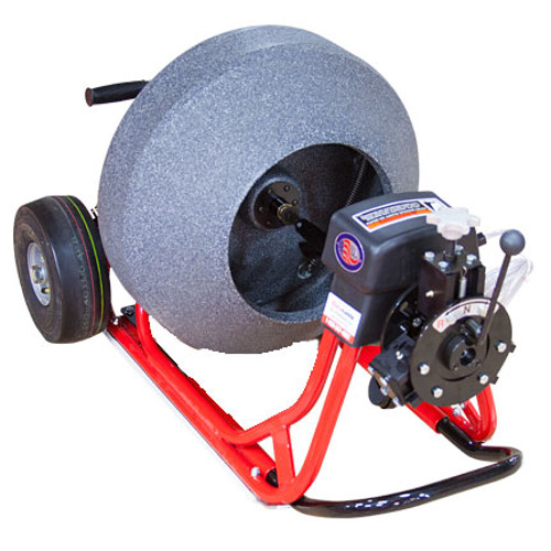"""DM30 SPB sewer cleaning machine with 21"""" poly cable drum for cleaning 2-6"""" drain lines"""