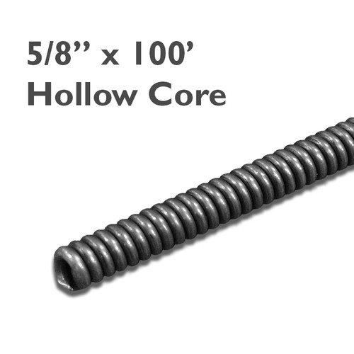 "5/8"" x 100' sewer snake for sale for replacement for sewer and drain cleaning equipment. Used with drain machines, this draincable clears clogs in lines up to 6""."