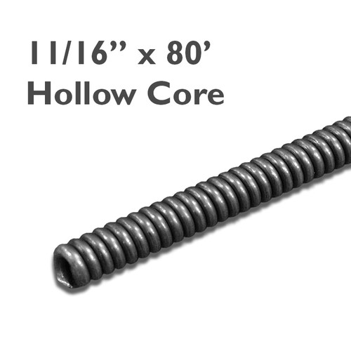"11/16"" x 80' Commercial Core Drain Cable (no core) which is great for cleaning residential and commercial plumbing drain lines from clogs of grease."
