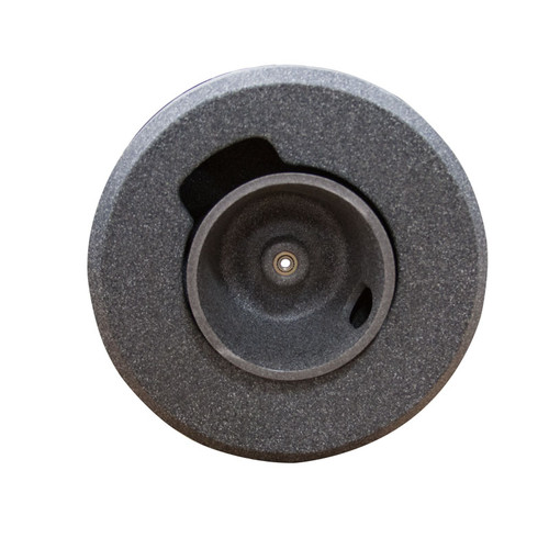 """18"""" cable reel for mini upright sewer machine. Holds 5/8"""" x 80"""" sewer snakes for drain cleaning lines sized at 2"""" to 6"""" in diameter."""