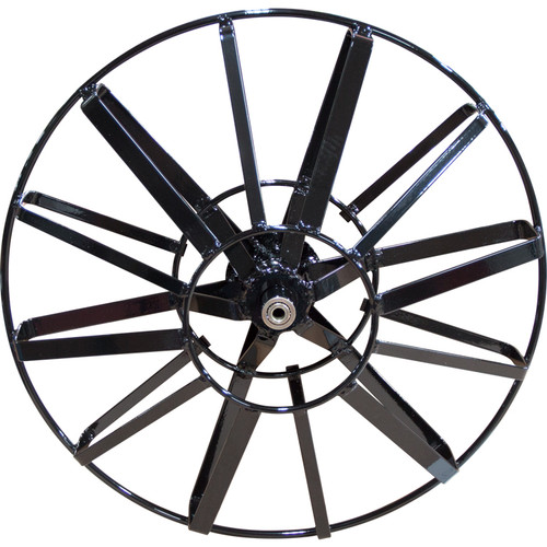 """The 19"""" open spoke metal cable reel is designed to fit the J-Maxx, DM10 and DM30 sled-style drain cleaning machines by Duracable."""