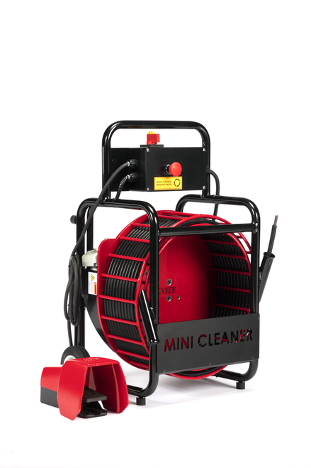"""Picote Mini-Cleaner navigates multiple 90-degree bends in P-traps, U-bends in 1-1/4"""" - 4"""" drain pipes."""