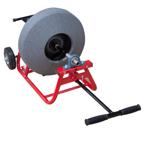 "JMaxx SPB professional drain machine with 16"" poly cable drum for 3/8"" x 75' sewer cable"