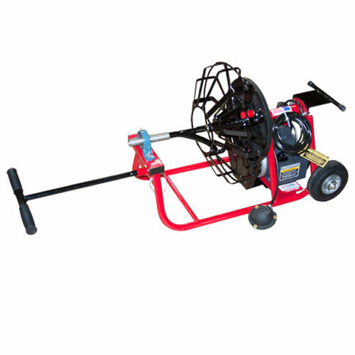 """J-Maxx SP drain machine with 16"""" open metal spoke reel. This mid-size drain machine is perfect for residential lines from 1-1/4"""" to 4"""" in diameter."""
