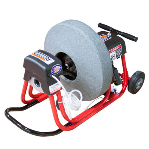 """DM10 SPC Sewer and Drain Cleaning Machine with 19"""" poly reel with 1/2"""" x 75' drain cable"""