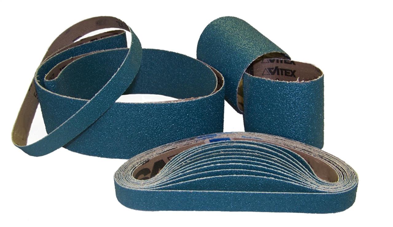 "Sparky Sanding Belts - Narrow - ZIRCONIA - 2"" to 3"" wide"