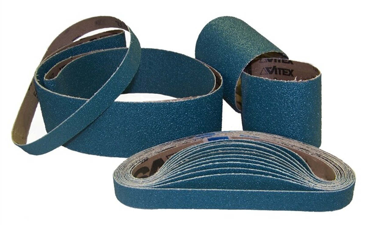 "Sparky Sanding Belts - Zirconia - 4"" to 6"" wide"