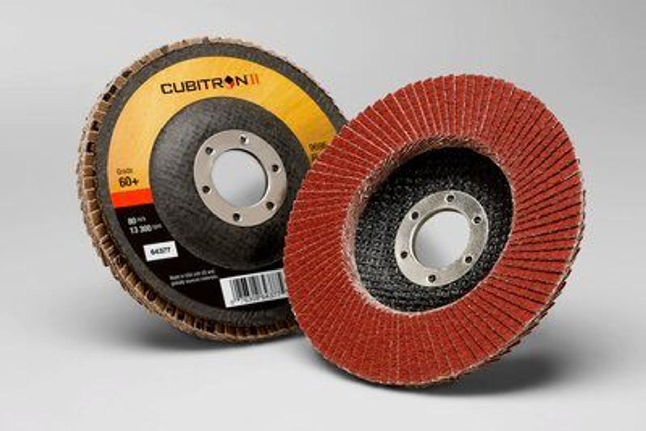 "4-1/2"" 3M™ Cubitron™ ll Flap Disc 969F"
