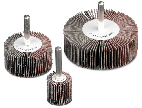 Aluminum Oxide Flap Wheels with 1/4 in. shank