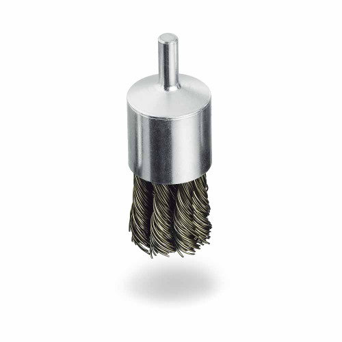 "1"" Twisted Knot Wire End Brush, 1/4"" Shank"