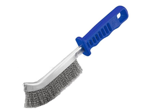 Hand Wire Scratch Brush, Stainless Steel w/Plastic Handle (24/box)