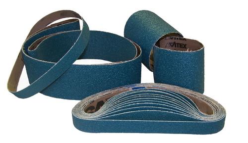 "Sparky Sanding Belts - ZIRCONIA - 1/4"" to 1-1/2"" wide"