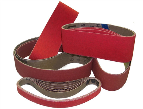 "Sparky Sanding Belts - Ceramic - 2"" to 3-1/2"" wide"
