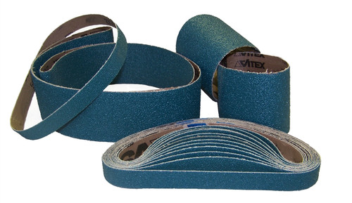 "Sparky Sanding Belts - Zirconia - 2"" to 3"" wide"