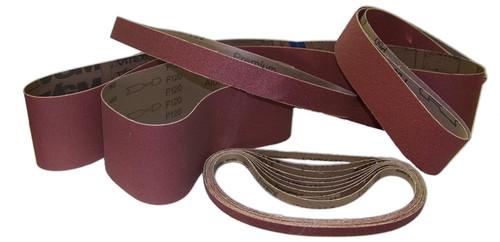 "Sparky Sanding Belts - ALUMINUM OXIDE - 1/4"" to 1-1/2"" wide"